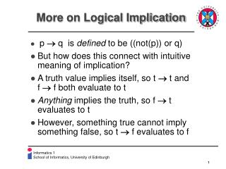More on Logical Implication
