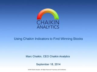 Using Chaikin Indicators to Find the Best ETFs and Stocks