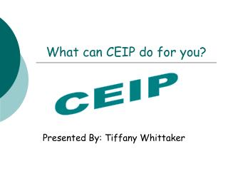 What can CEIP do for you?