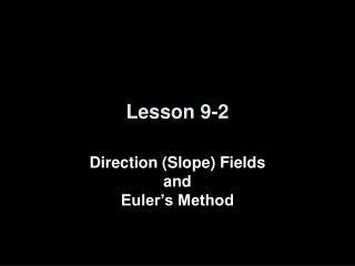 Lesson 9-2
