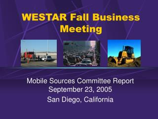 WESTAR Fall Business Meeting