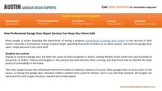 Austin Garage Door Experts