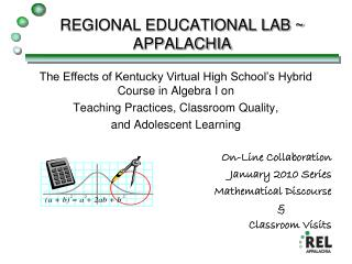 REGIONAL EDUCATIONAL LAB ~ APPALACHIA