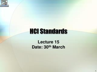 HCI Standards