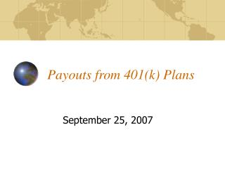 Payouts from 401(k) Plans