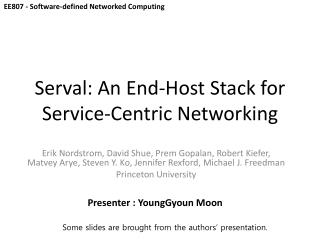 Serval : An End-Host Stack for Service-Centric Networking
