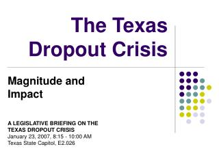 The Texas Dropout Crisis