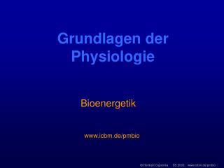 Grundlagen der Physiologie