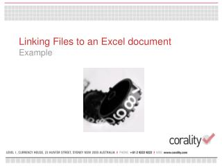 Linking Files to an Excel document Example
