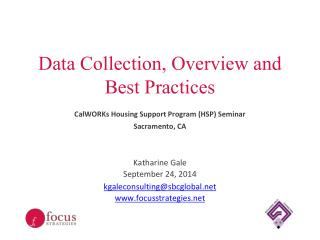 Data Collection, Overview and Best Practices