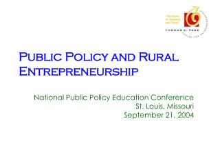 Public Policy and Rural Entrepreneurship