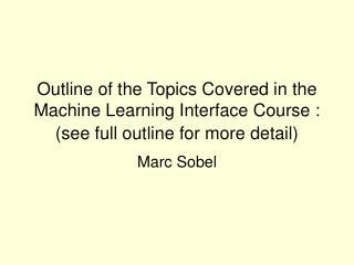 Marc Sobel