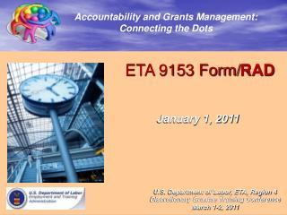 ETA 9153 Form/ RAD January 1, 2011
