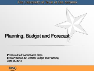 Planning, Budget and  Forecast