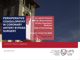 Perioperative coagulopathy in coronary artery bypass surgery