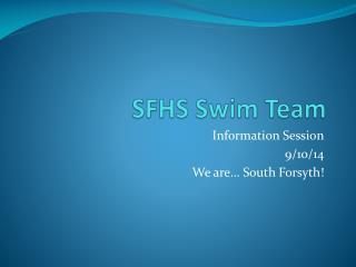 SFHS Swim Team