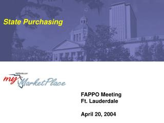 FAPPO Meeting Ft. Lauderdale April 20, 2004