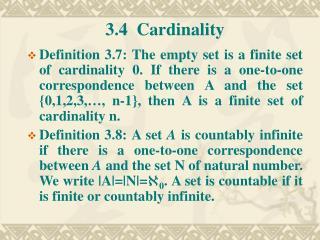 3.4  Cardinality