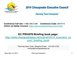 2014 Chesapeake Executive Council  Planning Team  Powerpoint