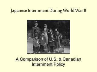 Japanese Internment During World War II