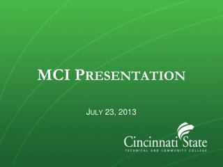 MCI Presentation