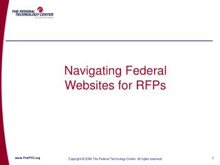 Navigating Federal Websites for RFPs