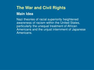 The War and Civil Rights