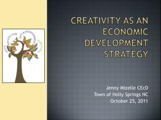 Creativity AS AN ECONOMIC DEVELOPMENT STRATEGY