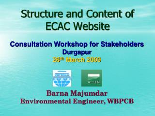Structure and Content of ECAC Website