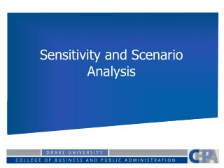 Sensitivity and Scenario Analysis