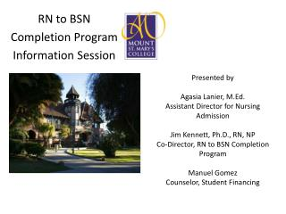 RN to BSN  Completion Program Information Session