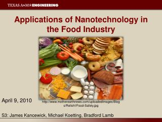 Applications of Nanotechnology in the Food Industry