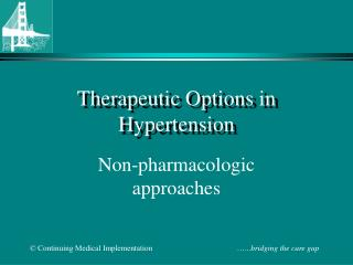 Therapeutic Options in Hypertension