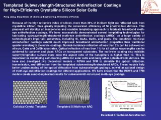 Templated Subwavelength-Structured Antireflection Coatings