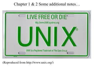 Chapter 1 & 2 Some additional notes�