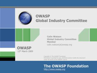OWASP Global Industry Committee