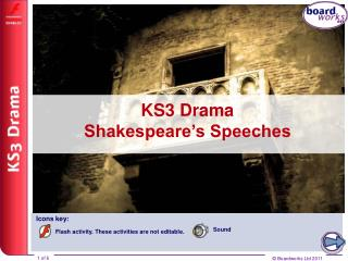 KS3 Drama  Shakespeare's Speeches