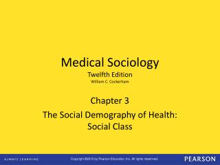 Chapter 3 The Social Demography of Health: Social Class