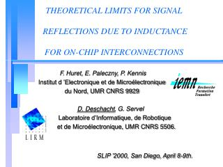 THEORETICAL LIMITS FOR SIGNAL  REFLECTIONS DUE TO INDUCTANCE  FOR ON-CHIP INTERCONNECTIONS