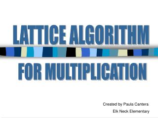 FOR MULTIPLICATION