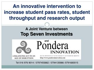 An innovative intervention to increase student pass rates, student throughput and research output