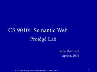 CS 9010:  Semantic Web