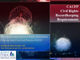 CACFP  Civil Rights Recordkeeping  Requirements