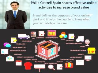 Philip Cottrell Spain shares effective online activities to