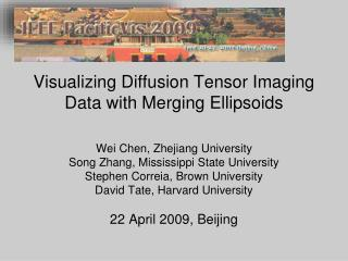 Visualizing Diffusion Tensor Imaging Data with Merging Ellipsoids