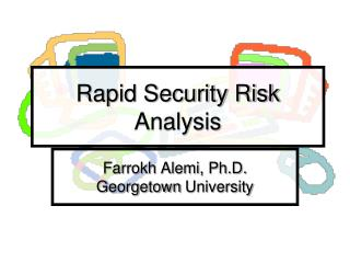 Rapid Security Risk Analysis