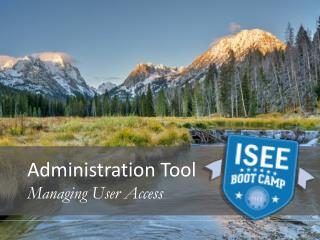 Administration Tool Managing User Access