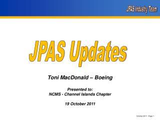 JPAS Updates