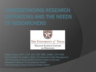 Understanding research operations and the Needs of researchers