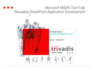 Microsoft MSDN  TechTalk Reusable SharePoint Application Development